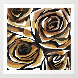 Chocolate Roses Art Print