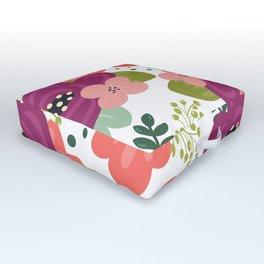 Blooming Florals Outdoor Floor Cushion