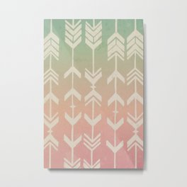 Gradient Tribal Arrows Metal Print