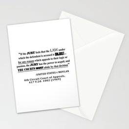 Jury Nullificaton Case Law Quote Stationery Cards