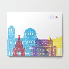 Sofia skyline pop Metal Print