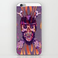 moto iPhone & iPod Skins featuring Moto Head by Beery Method