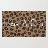 discount Area & Throw Rugs featuring Have A Cup by Katayoon Photography