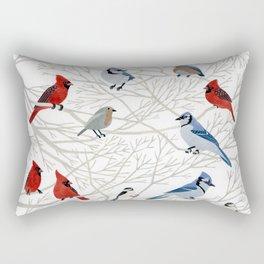 Winter Birds Rectangular Pillow