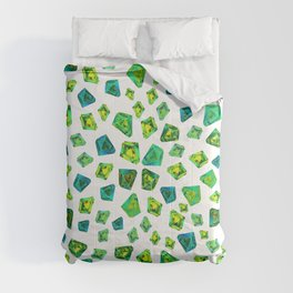 Green beautiful hand drawn gems. Comforters
