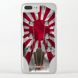 Guitar head stock jap Clear iPhone Case