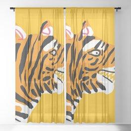 wild jungle cat - 1 Sheer Curtain