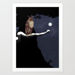The Owl and the Hare Art Print