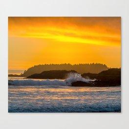 West Coast Waves Canvas Print