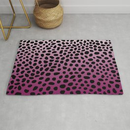 Raspberry Ombre Dalmation Rug