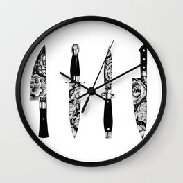 Floral Knives Wall Clock