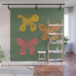 Inked Butterflies Wall Mural