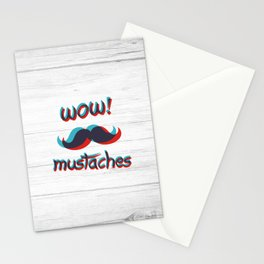 WOW mustaches Stationery Cards