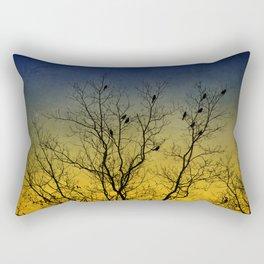 Silhouette Bird Art Rectangular Pillow