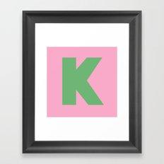 K is for... Framed Art Print