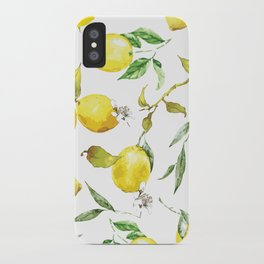 Watercolor lemons 8 iPhone Case