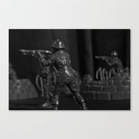 battlefield Canvas Prints featuring Battlefield by Naonik