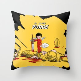 P.. is for Purge Throw Pillow