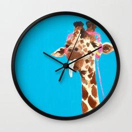 Rockin' Giraffe Wall Clock