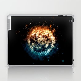 Burning Circle - Fire and Ice - Isolated Laptop & iPad Skin