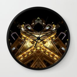 rorscach grand place brussels belgium Wall Clock