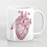 anatomical heart Mugs featuring anatomical heart by Kristian