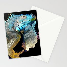 Green Iguana Stationery Cards