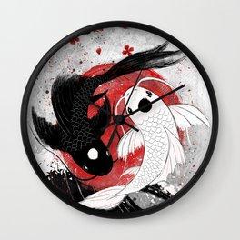 Koi fish - Yin Yang Wall Clock