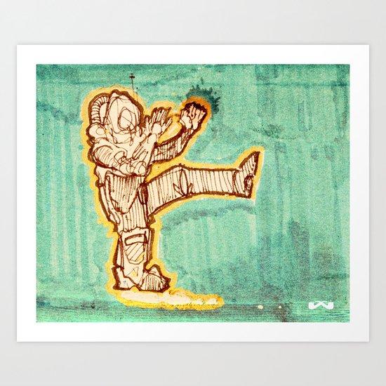 Astrokick. Art Print