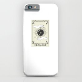 Tarot Card Crescent Moon and Black Witch iPhone Case