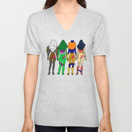 Superhero Butts Love 2 - Team Girls Unisex V-Neck
