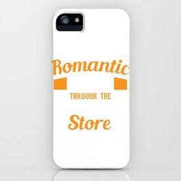 "Cool Tee ""I Enjoy Romantic Walks Through The Hardware Store"" Handyman T-shirt Design Tools iPhone Case"