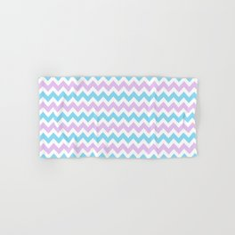 Light Blue, Lilac & White Chevron Pattern Hand & Bath Towel