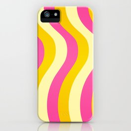 Pink and Gold Waves iPhone Case