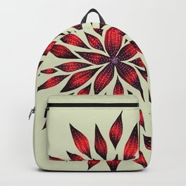Abstract Red Flower Doodle Backpack