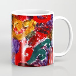 Abstract Fingerpainting Coffee Mug