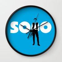 han solo Wall Clocks featuring Han Solo by Vector Vectoria