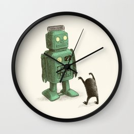 Robot vs Alien Wall Clock