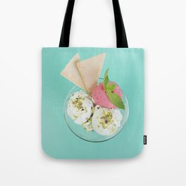 Pistachio & Strawberry Ice-cream Tote Bag
