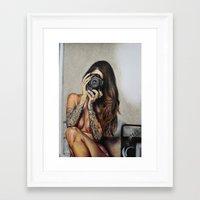 hello beautiful Framed Art Prints featuring Hello Beautiful by Kim Maria Morrow