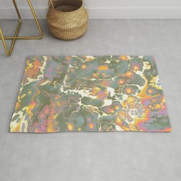 Marbled paints Rug