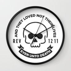 Even Unto Death Wall Clock