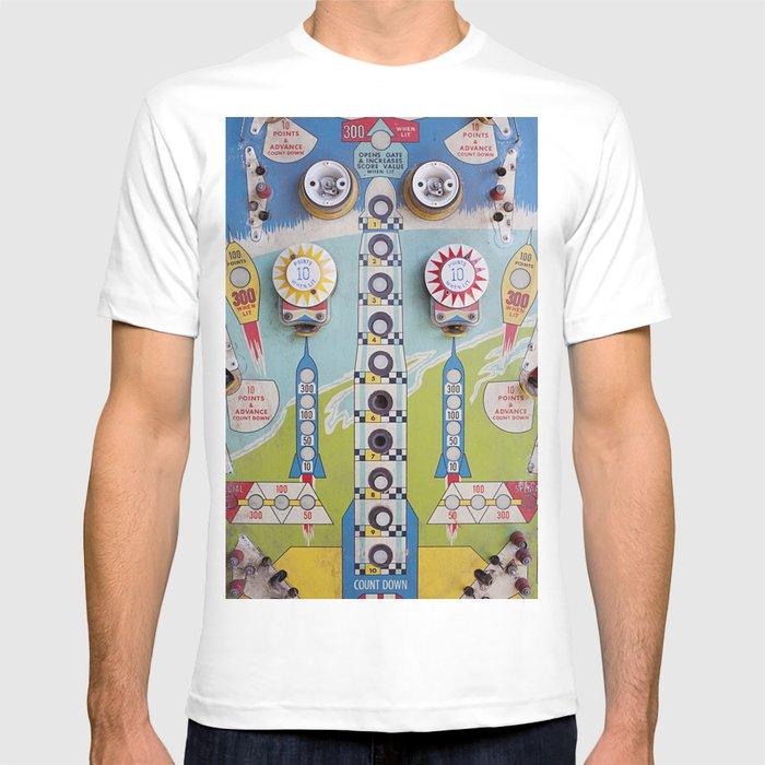 vintage / old pinball machine game T-shirt