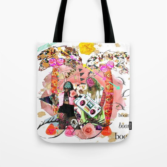 Rose-tinted Lashes In The Boom Boom Room Tote Bag
