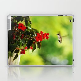 Hummingbird at the Flowers Laptop & iPad Skin