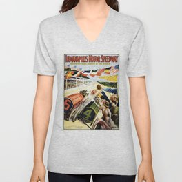 Indianapolis Motor Speedway The Greatest Race Course in the World Vintage Poster Unisex V-Neck