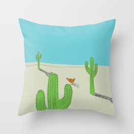 No country for Chickens Throw Pillow