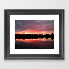 Lake Sky Framed Art Print