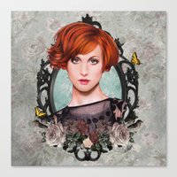 hayley williams Canvas Prints featuring Hayley Williams  by Will Costa