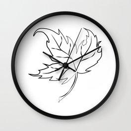 """ Halloween Collection "" - Autumn Leaf Wall Clock"